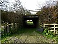 SK2733 : Former railway bridge over the old driveway to Hepnalls by Ian Calderwood