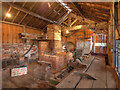SJ6775 : Lion Salt Works, The Smithy by David Dixon
