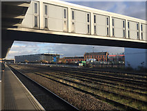 SK3635 : A view north-northeast from platform 6A, Derby station by Robin Stott