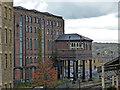 SE1416 : Large railway warehouse - Huddersfield by Chris Allen
