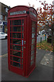 SU9566 : Telephone box in Chobham Road by Robert Eva
