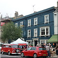 SY4692 : The Bull Hotel, Bridport, on market day by Bill Harrison