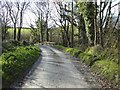 SS2708 : Country road crossing a bridge by Philip Halling