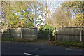 SK4832 : A way through the fence on the north side of Fields Farm Road, Long Eaton by Robin Stott