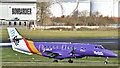 J3775 : G-MAJK (purple livery), Belfast City Airport (November 2017) by Albert Bridge