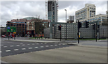 TQ3179 : Southwest corner of the Faraday Memorial, Elephant and Castle, south London by Robin Stott