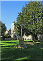 TL5284 : Little Downham: war memorial and St Leonard's Church by John Sutton
