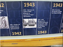 SX8752 : 1942/3 timeline, museum of Britannia Royal Naval College by David Hawgood