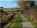 SK6730 : Towpath along the disused Grantham Canal by Mat Fascione