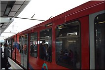 TQ3981 : DLR train at Canning Town by N Chadwick
