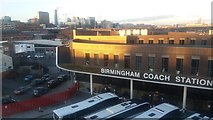 SP0786 : Birmingham Coach Station & City Skyline by Michael Westley