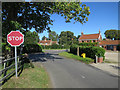 TG1309 : Stop sign, Marlingford by Hugh Venables