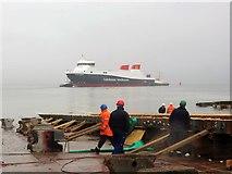 NS3274 : Launch of Glen Sannox at Ferguson Marine Shipyard by John Ferguson