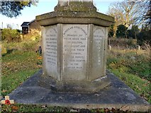 TM4077 : Names of the fallen on the Holton War Memorial 1 by Helen Steed