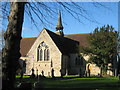 SJ6556 : St Oswald's Church Worleston by Sue Adair