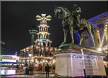 SJ3490 : Prince Albert statue, Liverpool Christmas Market by Matt Harrop