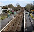 SS5599 : Through Bynea railway station,  Carmarthenshire  by Jaggery