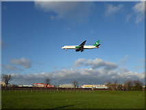 TQ0975 : A Turkmenistan flight landing at Heathrow by Marathon