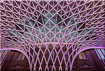 TQ3083 : Roof at King's Cross Station, London by Christine Matthews