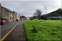 SS9497 : Roadside bench in Treherbert by Jaggery