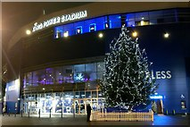 SK5802 : Christmas tree at the King Power Stadium by Mat Fascione