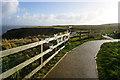 TA1974 : Headland Way at Bempton Cliffs by Ian S