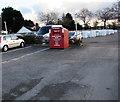 ST3096 : British Heart Foundation donations bin, Croesyceiliog, Cwmbran by Jaggery
