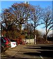 ST3097 : Telecoms mast behind Sunnydale Garden Centre, Croesyceiliog, Cwmbran by Jaggery