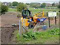 SJ9422 : Stafford Riverway Link progress near Baswich by Roger  Kidd