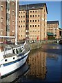 SO8218 : Warehouses on Victoria Dock by Philip Halling