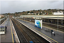 SX9193 : The view north-northeast from the north footbridge, Exeter St David's station by Robin Stott