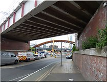 SJ8298 : A view of the Ordsall Chord by Gerald England