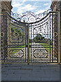 SK2570 : Chatsworth House - ornate gate by Chris Allen