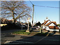TL9499 : Griston from the churchyard gate by Adrian S Pye