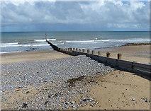 TG2142 : Groyne on the beach at Cromer by Mat Fascione