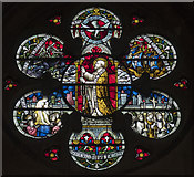 TQ2785 : St Dominic's Priory Church, Belsize Park - Stained glass window by John Salmon