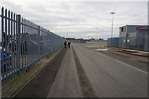 TA2711 : Warncliffe Road North, Grimsby Docks by Ian S