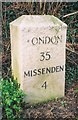 SP8607 : Old Milestone by the former A413 in Wendover by A Rosevear & J Higgins
