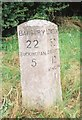 SP7529 : Old Milestone by A Rosevear & J Higgins