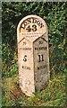 SP7516 : Old Milepost by A Rosevear & J Higgins