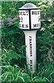 SJ9573 : Old Milepost by J Higgins