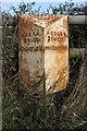SJ6943 : Old Milepost by J Higgins