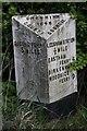 SJ3575 : Old Milepost by J Higgins