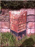 SJ6478 : Old Milepost by J Higgins