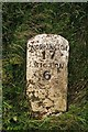 NY1645 : Old Milestone by the unclassified road, west of Langrigg Farm by CF Smith