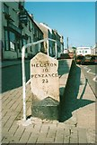 SW7834 : Old Milestone in Lower Market Street, Penryn by Ian Thompson