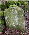 SK2374 : Old Milestone by the A623, Calver by J Higgins