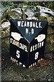 NY8243 : Old Milepost by IA Davison
