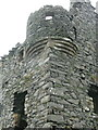 NW9763 : Base of corner turret, Galdenoch Castle by Humphrey Bolton