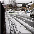 ST3090 : Footprints on a snowy pavement, Pinewood Close, Malpas,  Newport by Jaggery